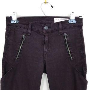 rag & bone Rally Cargo Skinny Jeans in Mulberry